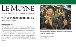 Le Moyne Core Curriculum information pamphlet face