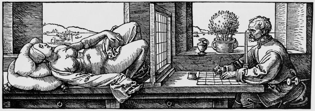 Albrecht Durer, illustration from On Measurement