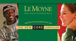 Le Moyne Core Curriculum Distinctive Elements pamphlet cover