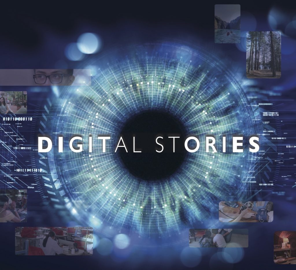 Image for Digital Stories with blue eye in the center